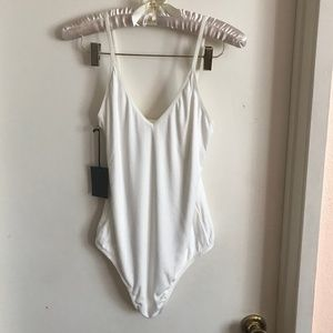 Aritzia Tops - NWT Aritzia Talula White Spaghetti Strap Bodysuit